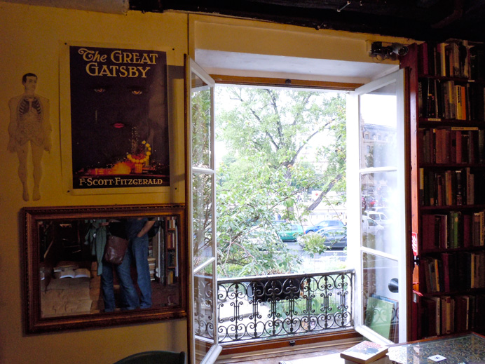 View from the second floor window, Shakespeare and Co.