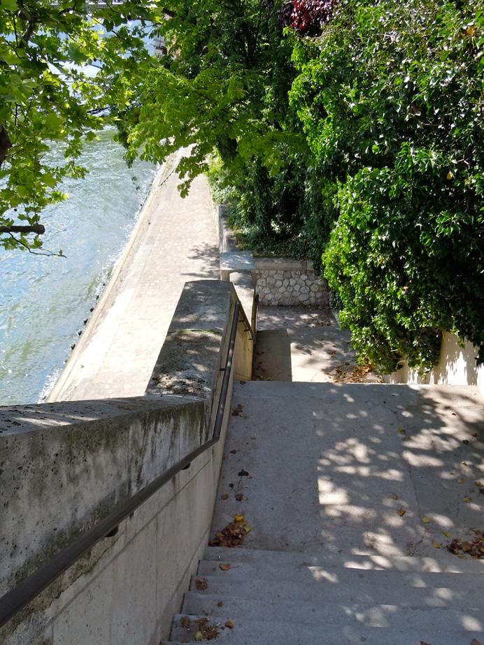 Hadley\'s staircase, Île St. Louis