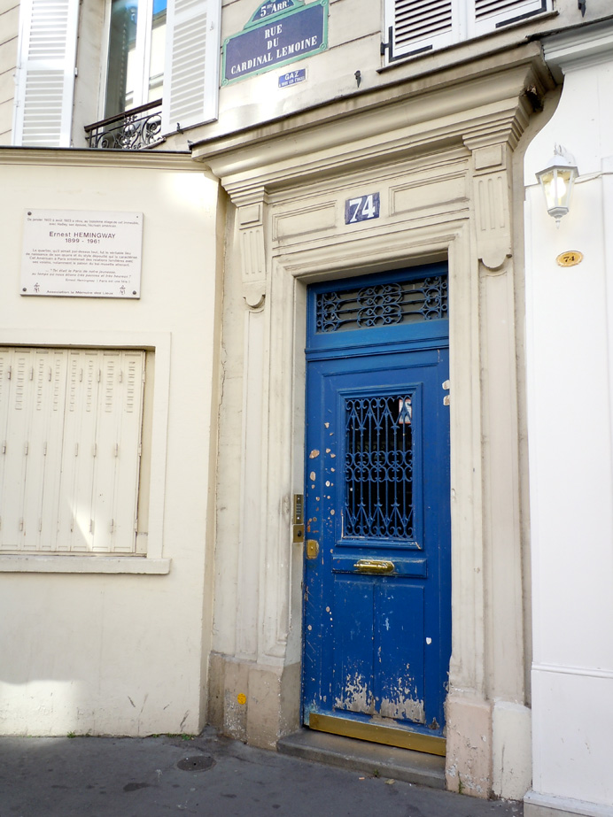 74 Cardinal Lemoine, the Hemingway\'s first apartment in Paris