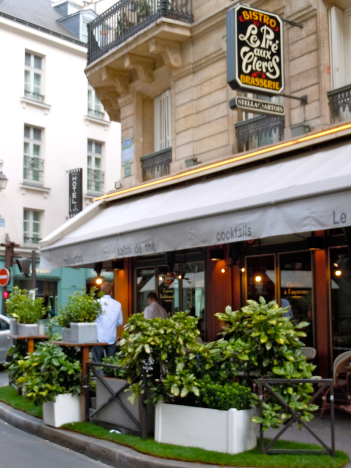 The Pré aux Clercs, where the Hemingways had their first dinner in Paris