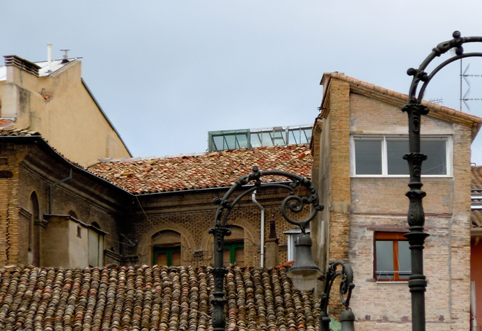 Tiled rooftops, Pamplona