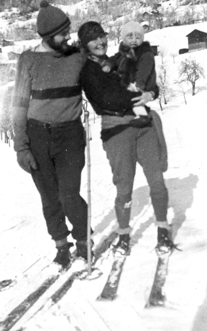 Ernest, Hadley and Bumby, Schruns, Austria, 1925
